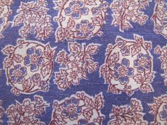 1940's purple Floral Flour Sack Fabric, Flour Sack, Feed Sack, Grain Sack, Floral, Quilt, Calico, Pink, Green, Quilter Weight, Farmhouse