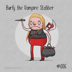 Watch out for Burfy!! #dailysketch #cosplay #buffy #buffythevampireslayer #wickedcrispy #birdlice #art by grinetastic