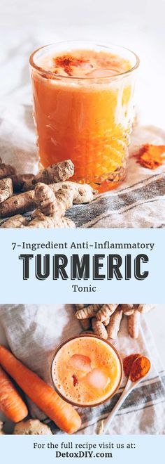 Try this refreshing turmeric and ginger tonic to help fight inflammation.