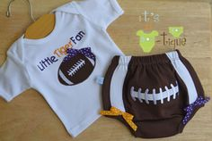 LSU Little Tiger Fan Girl Applique Football Bloomers Set. I need this in Clemson colors for ACL Diaper Covers, Lsu Tigers, Football Fans, Fan Girl, Applique Designs, Future Baby, Gym Shorts Womens, Cute Outfits, Acl