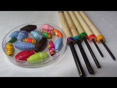 How to Make Paper Beads with Paper Bead Rollers Craft Tutorial - YouTube  Just so you know that there are many options with regard to the tools you can use to make your paper beads.