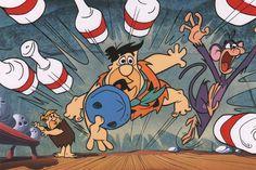 Bowling Night Flintstones Print