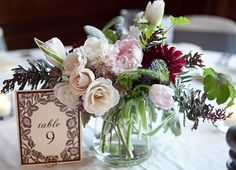 Wedding Centerpiece by Pollen, Chicago floral designer.