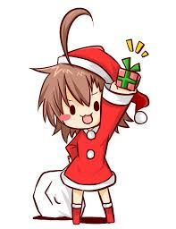 cute anime girl christmas chibi - Google Search