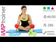 Allenamento Total Body con Pesi ed Elastico (gambe, glutei e braccia) - YouTube