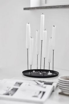 Black   Iron | Iron cast candleholders