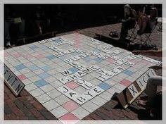 Outdoor Scrabble -- also kind of cool. not so field day-ey. Greek Week, Greek Life, Quizzes Games, Wedding Games, Wedding Ideas, Party Like Its 1999, Field Day, Indoor Games, Family Game Night