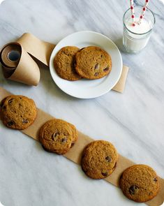 Awesome oat flour pumpkin chocolate chip cookies