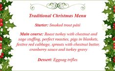 christmas dinner menu ideas christmas menu ideas christmas dinner menu christmas stuff simple - Simple Christmas Menu