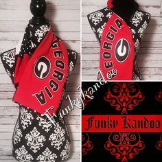 Georgia Bulldog Vintage Tee Infinity Scarf by Funky Kandoo. Visit Funkykandoo on Facebook or Instagram for more unique gift ideas.