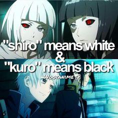Anime: Tokyo Ghoul      Characters: Shiro and Kuro