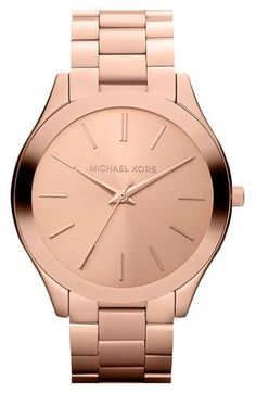 Graduation gift perhaps???  Michael Kors 'Slim Runway' Bracelet Watch, 42mm available at #Nordstrom