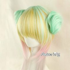 Henweit Multi-Color Mixed Cosplay Anime Lolita Short 45CM Women Wig by Henweit, http://www.amazon.co.uk/dp/B00G2TVG0G/ref=cm_sw_r_pi_dp_iwdXsb12HPK5V