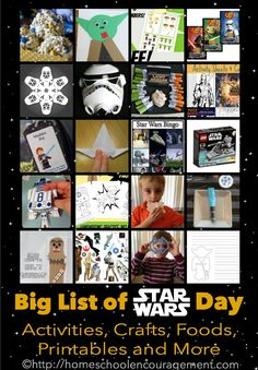 Star Wars Day Celebration in Homeschool - Fun Star Wars Activities for your Star Wars Party or Star Wars theme days homeschooling. Tons of ideas!