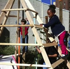 This pop-up playground in Philadelphia was designed and build by teens.