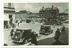 Liikennettä Eerikinkadun ja Aurakadun risteyksessä TS arkisto Helsinki, Old City, Old Pictures, Looking Back, Finland, Street View, River, Interesting Stuff, History