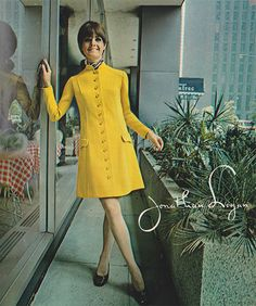 'Our girl on the move elects a double knit that puts her in the young executive class till 5.' (1968) #JonathanLogan