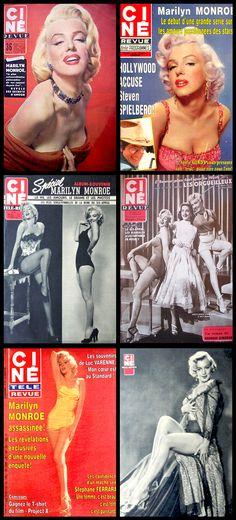 Ciné Revue (French) magazine covers of Marilyn Monroe  .... #marilynmonroe #normajeane #vintagemagazine #pinup #iconic #raremagazine #magazinecover #hollywoodactress