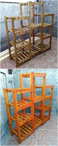 wooden pallet shelving cabinet