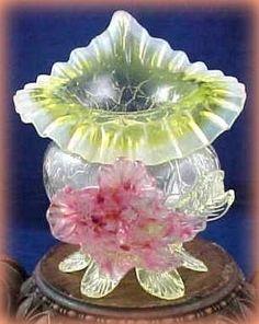 Czech Králík Vilém Glass Vase