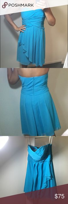 Selling this Strapless Chiffon cocktail Dress on Poshmark! My username is: michselk. #shopmycloset #poshmark #fashion #shopping #style #forsale #David's Bridal #Dresses & Skirts