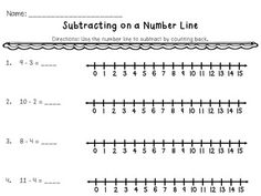 22 pages of Addition and Subtraction practice - word problems, fluency practice, and using a number line. Great for morning work, early finishers, extra practice, or homework.