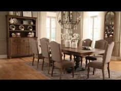 Grayish Brown Tanshire Dining Room Chair View 4 Video