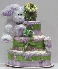 Adorable Diaper Cake!