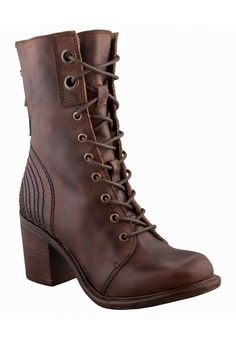 Lace-Up Heeled Boot