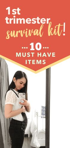 Survival Kit for Trimester Symptoms Trimesters Of Pregnancy, Pregnancy Workout, Pregnancy Tips, Second Pregnancy, Pregnancy Style, Pregnancy Fashion, Pregnancy Outfits, Maternity Fashion, First Trimester Tips