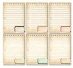 Everyday Life Notebook ATCs - set of 6