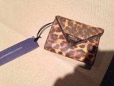 NWT Rebecca Minkoff Molly Metro Wallet Retail $75 Free Shipping Leopard Animal  #RebeccaMinkoff #MiniWallet