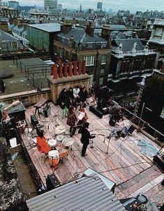 Los Beatles en la terraza de Apple. 1969. Último concierto que dieron.