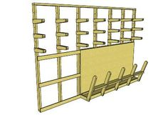 Lumber Storage Rack - 3D Warehouse