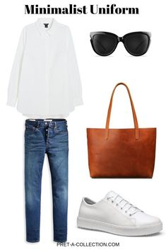 mode inspo Leather White Trainers Wedding Bouquets: Fresh Flower, or Silk? Casual Chic, Style Casual, White Casual, White White, Style Désinvolte Chic, Mode Style, Minimalist Wardrobe, Minimalist Fashion, Mode Outfits
