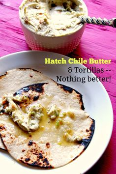 Hatch Chile Butter - creamy with a pop of flavor from the Hatch chiles and garlic. You& want to spread this on grilled corn and tortillas. Hatch Green Chili Recipe, Green Chili Recipes, Hatch Chili, Hatch Chile Recipe, New Mexico Green Chili Recipe, Hatch Chile Salsa, Mexican Dishes, Mexican Food Recipes, Mexican Meals
