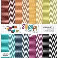 """Color Vibe Simple Stories  Double-Sided Paper Pack 12/""""X12/"""" 8//Pkg-Sn@p 2Pk"""