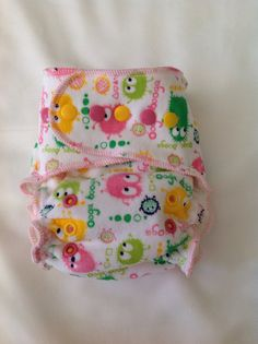 Cloth Diaper Organic Bamboo Fleece Fitted Cloth by AlbySewing, $30.00
