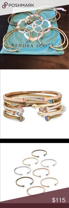Kendra Scott Kriss Bangles Kendra Scott Kriss Bangles!  New condition! Set of 8 (2 gold, 2rose gold, 2 silver and 2 brass) Kendra Scott Jewelry Bracelets