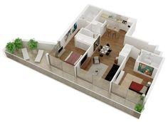 1000 images about monoambiente on pinterest ideas para for Disenos de interiores para casas pequenas