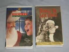 Miracle on 34th street 2 VHS Tapes 1947 version & 1995 version #SH57