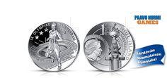 Paavo Nurmi -juhlaraha 2015. Uuteen juhlarahaan on kuvattu Paavo Nurmi Amsterdamissa 1928, jolloin hän voitti olympiakullan ja lisäksi kaksi hopeaa. Tilaa vain toimituskulujen hinnalla!