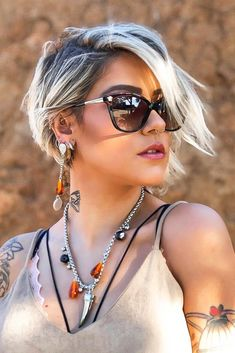 Short Hairstyles For Thick Hair, Short Pixie Haircuts, Girl Haircuts, Diy Hairstyles, Hairstyle Ideas, Hair Ideas, Haircut Short, Stylish Hairstyles, Long Pixie Cuts