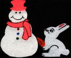 Chubby Snowman Felt Board Story