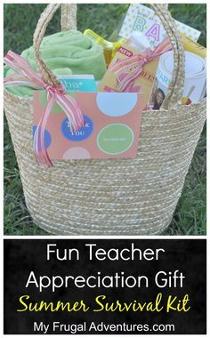 I mentioned a bunch of Teacher Appreciation gifts a few weeks ago. I also wanted to pass along this little end of year basket we did for the teachers as well as a little project the girls did to pass out to their classmates. We got the teachers a small teacher appreciation gift and we …