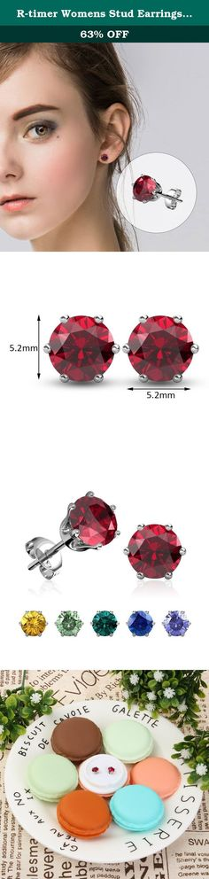 """R-timer Womens Stud Earrings Swarovski Elements Jewelry Crystal Birthstone Earrngs (6 Pairs Set). About R-timer Jewelry R-timer is not only a fashion jewelry brand, but also a kind of attitude to life. It means LOVE EXQUISITE LIFE, we hope every piece of our jewels can express thinking in your mind and wish all the wearers as beautiful as they want inward and outward with positive power. R-timer always spare no efforts to make beautiful jewels and satisfying services."""" History of…"""
