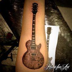 Gibson Les Paul Guitar Tattoo