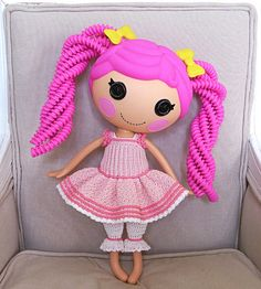 Lalaloopsy doll clothes by biscuitbear, via Flickr - so cute, wish there was a pattern!