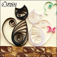 ♥ Quilled kitties from World vietdiy.com- of Quilling, paper cards and paper models. Some very nice examples. You may have to translate though. ♥