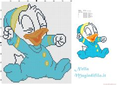 Baby Donald Duck in pajamas